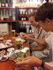 「日本の納豆チャレンジの図」