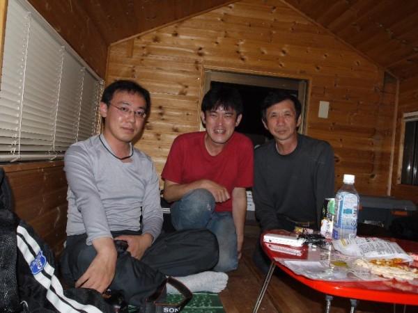 「ライダーハウス風来坊にて今宵のお仲間」
