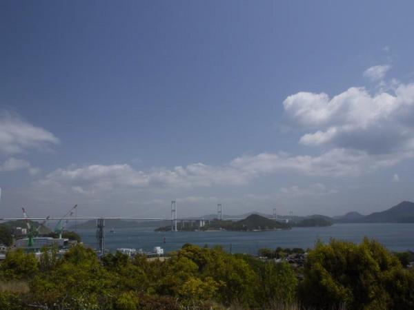 これから走る「しまなみ海道」を望む