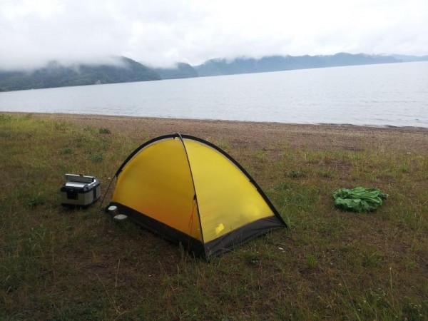 雨の止んだ舟津浜キャンプ場