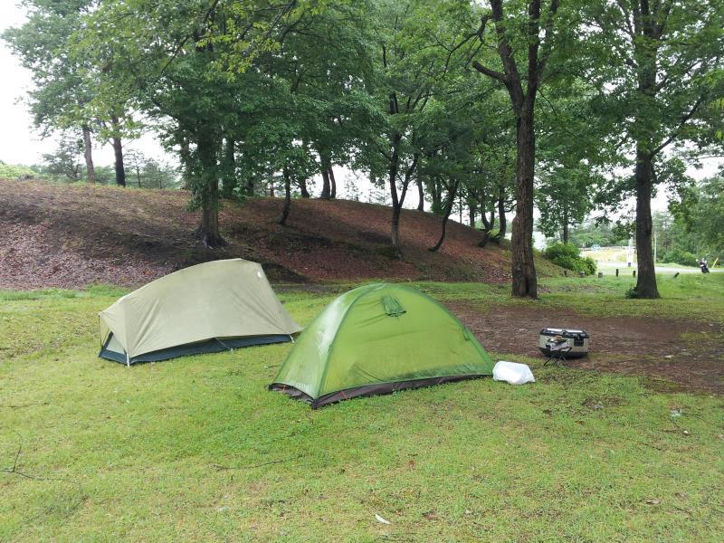 東山森林公園キャンプ場にて