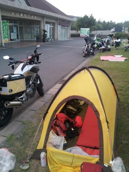 道の駅「桜島」の朝