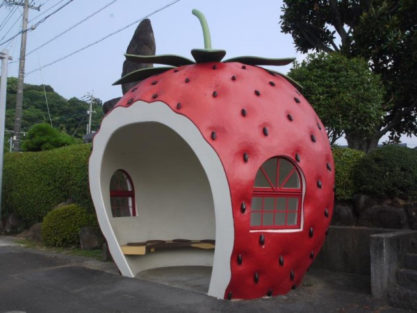 諫早市 イチゴのバス停