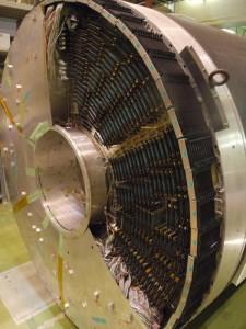 BELLE検出器のセンサ部分にはモジュールが多数