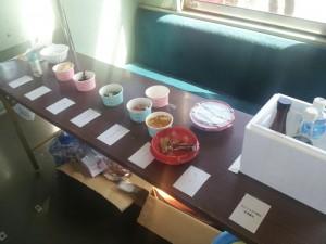 納豆列車の各種薬味