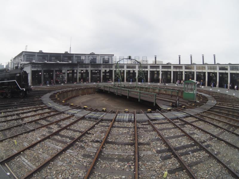 梅小路蒸気機関車館 「SL転写台前」