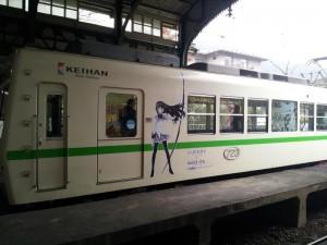 叡山電鉄「まどマギラッピング電車」
