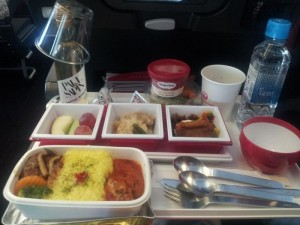 最初の機内食