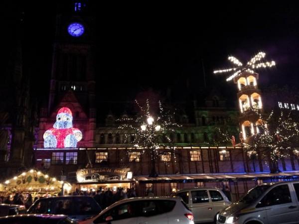 マンチェスター クリスマスマーケット 「マンチェスター市役所」