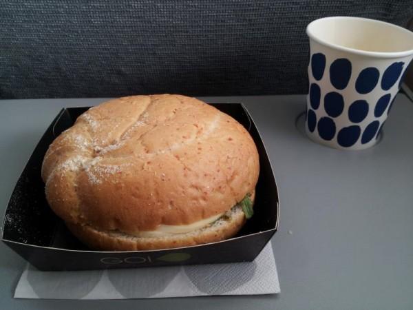 フィンランド航空の昼飯