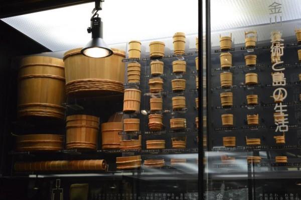 佐渡金山の展示 桶各種