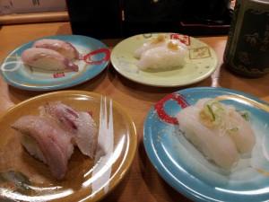 【新潟県佐渡市】 回転寿司 弁慶 「佐渡島の地魚各種」