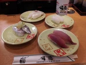 【新潟県佐渡市】 回転寿司 弁慶 「ひたすら一番安い皿を取る(地魚)」