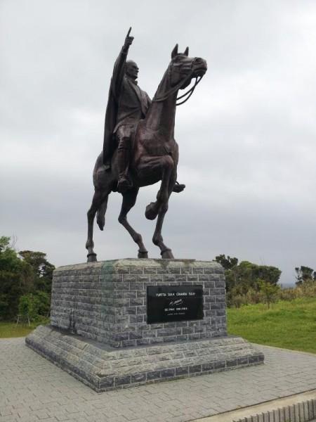 【和歌山県串本町】 樫野埼灯台 ムスタファ・ケマル・アタテュルク騎馬像
