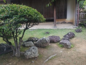 岩崎弥太郎生家 日本列島の石組み