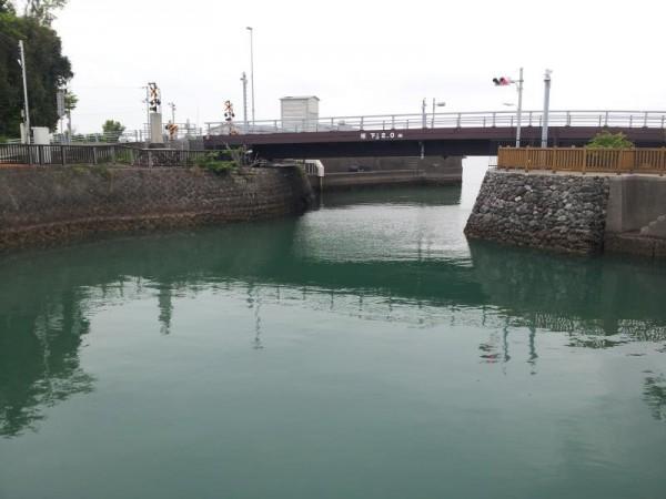 【高知県香南市】 手結港可動橋 完全に降りた所