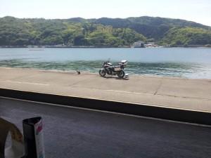 【高知県土佐清水市】 足摺黒潮市場 清水港とNC700X