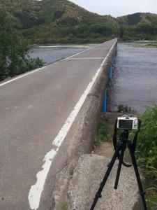 佐田沈下橋でインターバル撮影