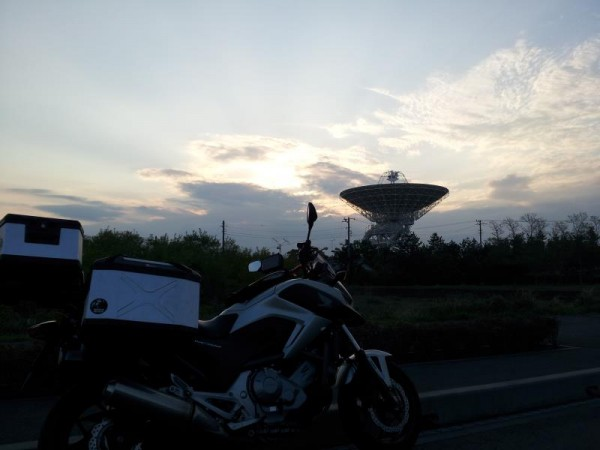 鹿島宇宙技術センターのパラボラアンテナ