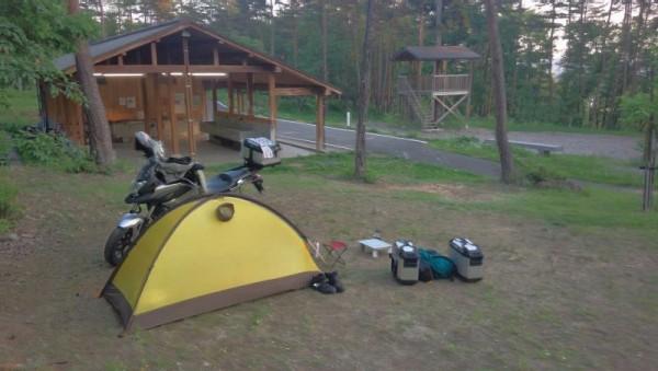 「もりっこの里」キャンプ場にて