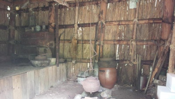 三毛別羆事件復元現地 家屋の中