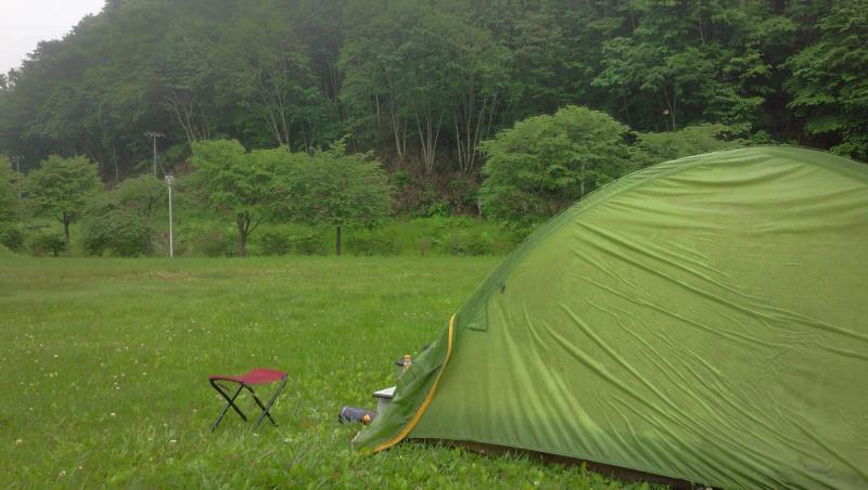 温泉の森キャンプ場にて