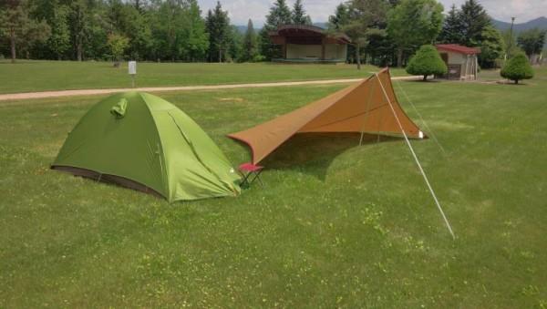 富良野の太陽の里キャンプ場にて