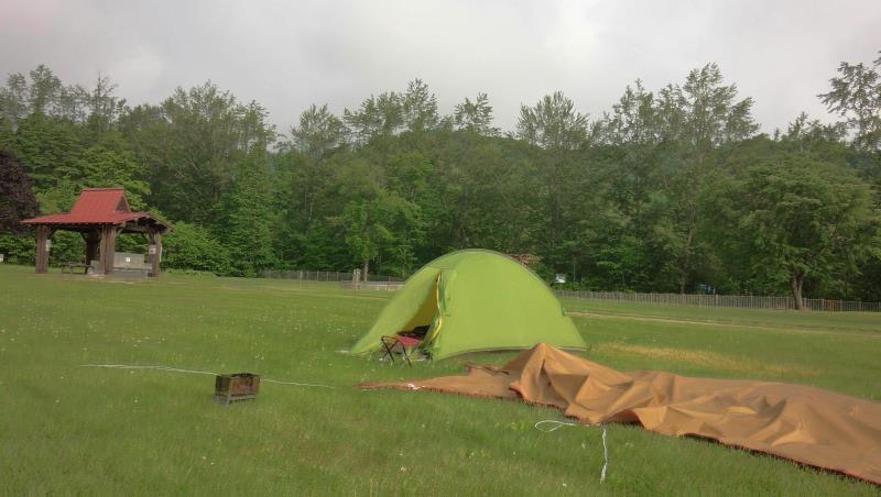 太陽の里キャンプ場にて