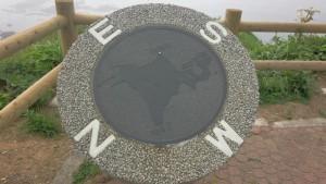 襟裳岬 反転している北海道の地図