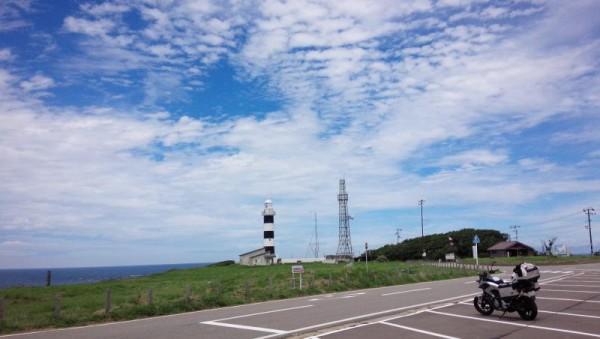 入道崎灯台にて