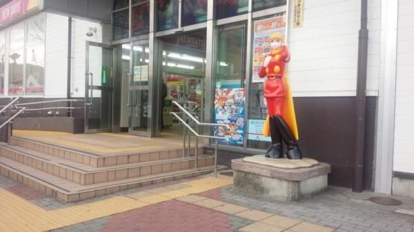 石巻駅前のサイボーグ003