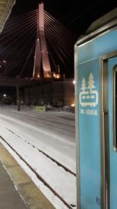 青い森鉄道と青森ベイブリッジ
