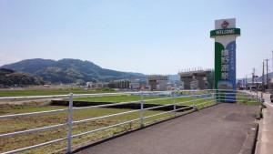 嬉野温泉近くの長崎新幹線高架橋建設現場
