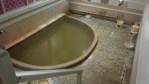 別府高等温泉 熱湯の湯船