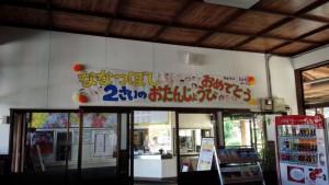 豊後竹田駅 「ななつぼし 2さいのおたんじょうび おめでとう」