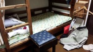 湯布院カントリーロードユースホステル 寝床