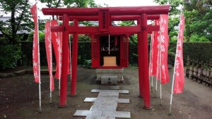 福沢諭吉旧邸の神社