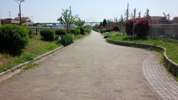 UFJ裏手の遊歩道