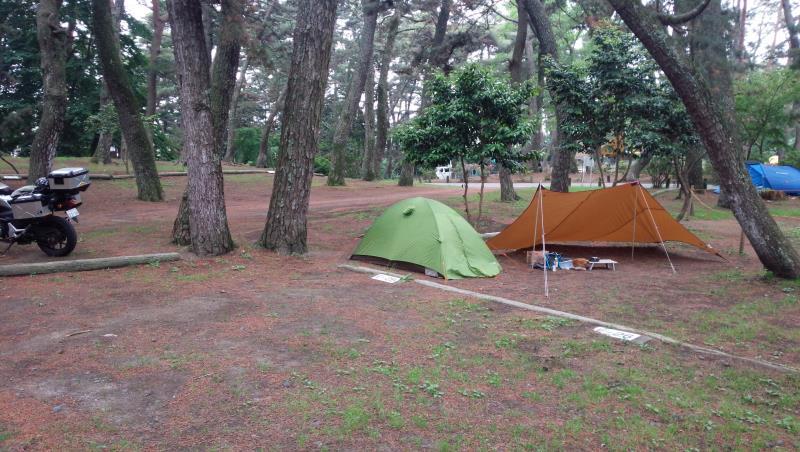 大洗キャンプ場にて