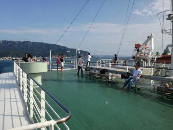 東京湾フェリーにて