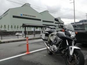 釜石駅前には新日鐵住金 釜石製鐵所