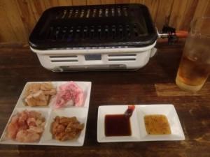【茨城県水戸市】 立呑み焼肉ボンバー 「とりあえずセット」