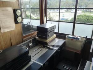 旧上岡小学校の放送室