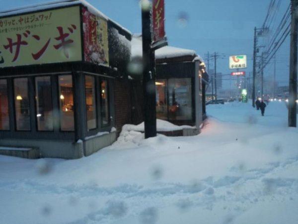 大雪の札幌市内